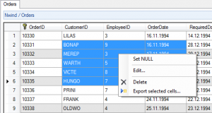 Export Selected Cells